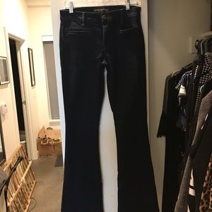 Express Mid Rise Slim Flare Jeans
